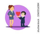 businessman presenting love to... | Shutterstock .eps vector #1060316384