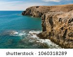 steep cliff coastline near...   Shutterstock . vector #1060318289