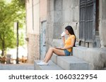 young attractive latin woman in ...   Shutterstock . vector #1060322954