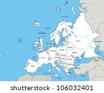 europe   vector map | Shutterstock .eps vector #106032401