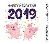 vector illustration  happy new... | Shutterstock .eps vector #1060332905