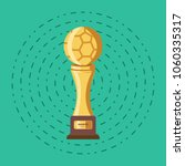 winner gold trophy football... | Shutterstock .eps vector #1060335317