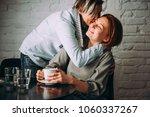 beautiful lesbian couple... | Shutterstock . vector #1060337267