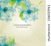 floral background. wedding card ... | Shutterstock .eps vector #106033961