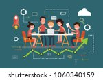 business teamwork meeting and... | Shutterstock .eps vector #1060340159