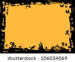 black border in yellow... | Shutterstock .eps vector #106034069