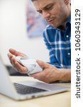 businessman using laptop... | Shutterstock . vector #1060343129
