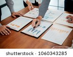 start up partners are working... | Shutterstock . vector #1060343285
