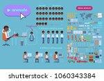 animation set black businessman ... | Shutterstock .eps vector #1060343384
