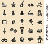 toys black icons set.vector. | Shutterstock .eps vector #1060343564