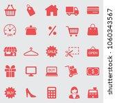 shopping  icons set. vector | Shutterstock .eps vector #1060343567