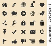 web  icons set.vector | Shutterstock .eps vector #1060343645