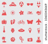 summer  icons set.vector | Shutterstock .eps vector #1060343669