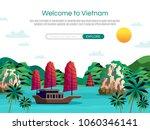 welcome to vietnam cartoon... | Shutterstock .eps vector #1060346141