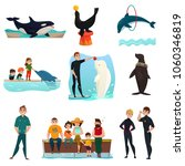 dolphinarium icons set with... | Shutterstock .eps vector #1060346819