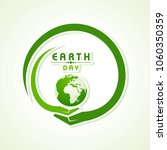 happy earth day. poster ... | Shutterstock .eps vector #1060350359