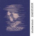 skull. hand drawing skull... | Shutterstock .eps vector #1060353539