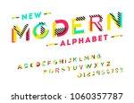 stylish modern abstract italic... | Shutterstock .eps vector #1060357787