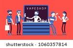 vape shop business. group of... | Shutterstock .eps vector #1060357814