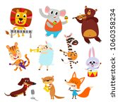 collection of cute cartoon... | Shutterstock .eps vector #1060358234