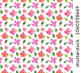 seamless floral background.... | Shutterstock . vector #1060358669