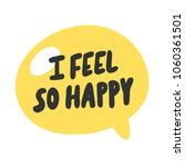 i feel so happy. sticker vector ... | Shutterstock .eps vector #1060361501
