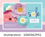 spring sale design with... | Shutterstock .eps vector #1060362941