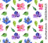 seamless floral background.... | Shutterstock . vector #1060364615