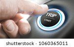 thumb about to press a start... | Shutterstock . vector #1060365011