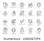set of 20 icons on cosmetology... | Shutterstock .eps vector #1060367294