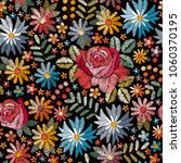 embroidery seamless pattern... | Shutterstock .eps vector #1060370195