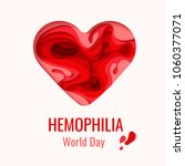 world hemophilia day vector... | Shutterstock .eps vector #1060377071