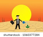 businessman watering to make... | Shutterstock .eps vector #1060377284