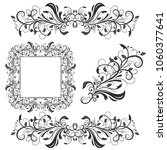 floral decorative frame and... | Shutterstock .eps vector #1060377641
