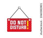 do not disturb sign  white... | Shutterstock .eps vector #1060382801