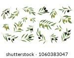 flat vector set of branches... | Shutterstock .eps vector #1060383047