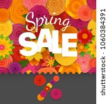 season sale off vector concept. ... | Shutterstock .eps vector #1060384391