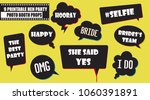 hipster photo booth props set... | Shutterstock .eps vector #1060391891