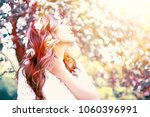 light portrait of an apple tree ... | Shutterstock . vector #1060396991