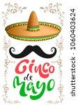 cinco de mayo. mexican sombrero ... | Shutterstock .eps vector #1060403624