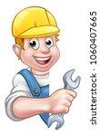 a plumber or builder contractor ... | Shutterstock . vector #1060407665