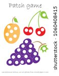 education patch game fruit for... | Shutterstock .eps vector #1060408415