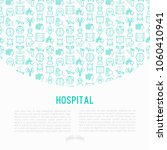 hospital concept with thin line ... | Shutterstock .eps vector #1060410941