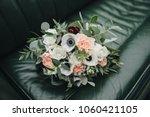 wedding bouquet of flowers and... | Shutterstock . vector #1060421105