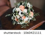 wedding bouquet of flowers and... | Shutterstock . vector #1060421111