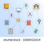 office supply network diagram... | Shutterstock .eps vector #1060422614