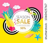 summer sale layout design... | Shutterstock .eps vector #1060425767