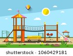 playground. vector city park. | Shutterstock .eps vector #1060429181