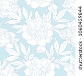 peony seamless pattern in white ... | Shutterstock .eps vector #1060429844