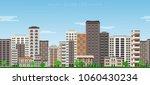 city skyline seamless border... | Shutterstock .eps vector #1060430234